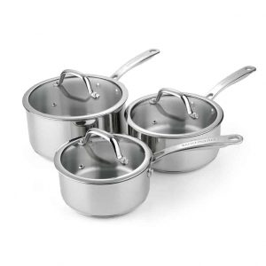 Rangemaster set of 3 saucepans
